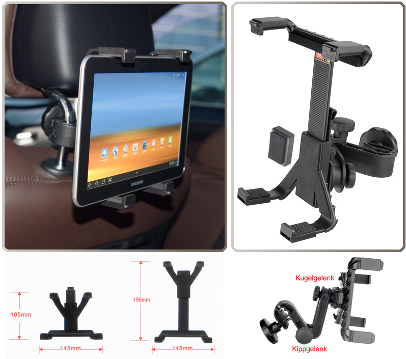 car holder universal headrest f samsung galaxy tab 7 0. Black Bedroom Furniture Sets. Home Design Ideas