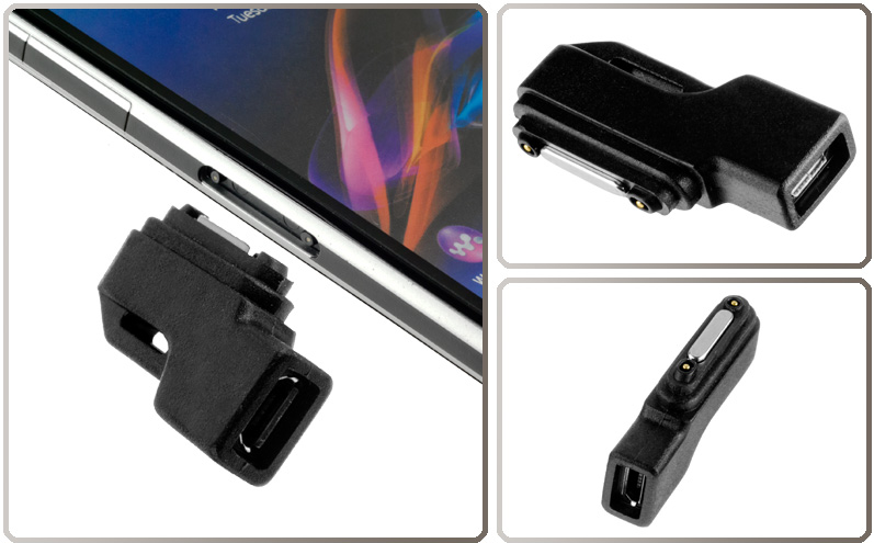 magnet lade adapter auf micro usb f r sony xperia z2. Black Bedroom Furniture Sets. Home Design Ideas